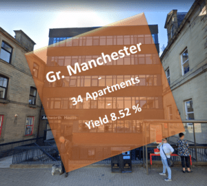 Block of 34 apartments, Burnley, Lancashire, England